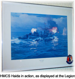 Haida on Legion President Don Smith Served On The Hmcs Haida  Pictured Left